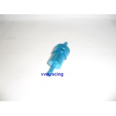 Fuel filter reusable blue